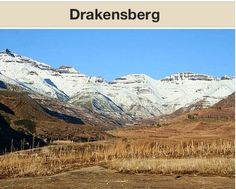 These are the Drakensberg Mountains of South Africa. They are the area's main range.