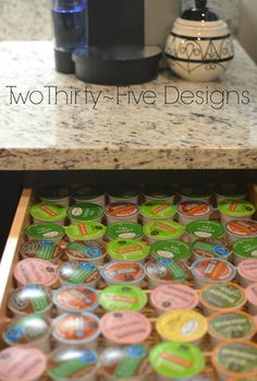 Two Thirty-Five Designs: $2 DIY K-Cup Organizer