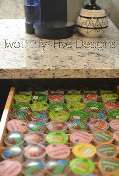 Two Thirty-Five Designs: $2 DIY K-Cup Organizer