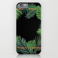 Tropical Copper Greenery iPhone & iPod Case by Xiari at society6 . tropical , exotic, greenery, copper, geometrical, geometry,  pattern, gold, brass, minimal, leaf, leaves, scandinavian design, art print, duvet cover, trend, design, interior design, wall art, wall tapestries, digital, society6, green, xiari