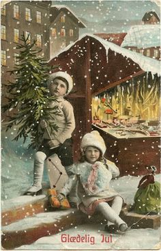 Old Christmas Postcards - Free to download!