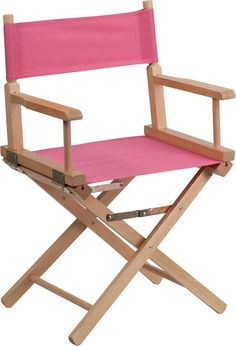Now You Can Call The Shots With This Comfortably Designed Directors Chair.  Get Away From
