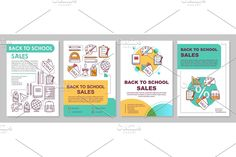 Leaflet Printing, Creative Brochure, Back To School Sales, Newsletter Templates, Page Layout, Brochure Template, Cover Report, School Supplies, Booklet