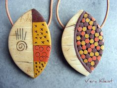 African Spirit By beadingvera - Schmuck Ideen Gestaltung, via Flickr -- amazing textures + example of mosaic work