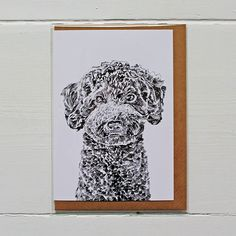 Beautifully designed greetings card by Ros Shiers, featuring Paul The Miniature Poodle.