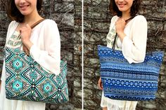 Abstract Print Totes | 4 Colors! 70% OFF