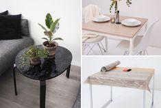 GUIDE & VIDEO - Puss opp bordet ditt med kontaktplast! Se hvordan på bloggen her. Mye billigere enn å kjøpe nytt og mye enklere enn å male. www.lindasdekor.no #lindasdekor #oppussing #inspirasjon #hjem #diy #gjørdetselv #interiør #kontaktplast #selvklebendefolie #folie #dekorplast #stuebord #spisebord #bord #stue #treverk #marmor #tre Table, Ikea, Furniture, Home Decor, Madness, Decoration Home, Ikea Co, Room Decor, Tables
