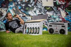 Beck's Beer Packaging Design Houses Bottles in a Boombox - PSFK