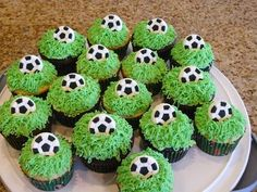 voetbal Soccer Ball Cupcakes