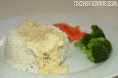 Family Favorite: Simple 5 Ingredient Recipe {Crockpot Creamy Italian Chicken}.  Details at www.itsoverflowing.com.