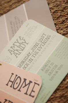party invitations - on paint samples.