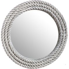 Add nautical appeal to your living room or master suite with this charming wall mirror, showcasing a rope frame in an aged white finish.   ...