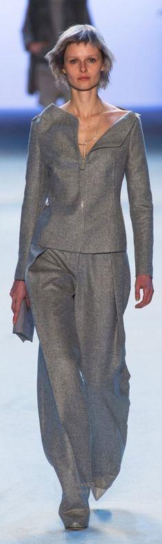 Akris - Grey Wool Two Piece Trouser Suit, Fall 2015