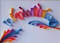 Wall art, Quilling Brand-name, name. Stand out your brand-name or your name with unique quilling design, quilling art, customized. by Hiquilling on Etsy