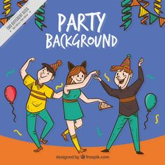 Background Of People Having Fun At A Party - FREE