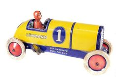 'Lehmann, Germany' - Clockwork 'Galop Racer' - Circa. 1930s... Click VISIT to find out more and see a wide range of Tin Plate Toys at MAD On Collections... Check us out on Facebook - https://www.facebook.com/Mad-on-Toys-1489499904472091/... Please feel free to pin or share this pin or any other content from MADonC.com. MADonC.com is for passionate collectors of all objects with 1000's of categories on view... #toys #tinplate #tinplatetoys