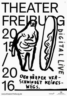 Theater Freiburg, Saisonvorschau 2015/16, entstanden bei Velvet Creative Office, Illustration Johanna Benz