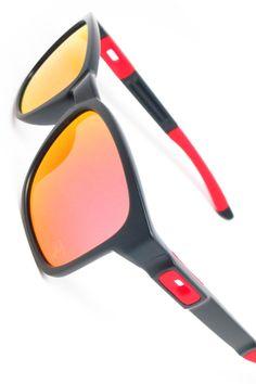 Oakley Catalyst OO9272-07 Ferrari Edition Mens Sunglasses. Matte Black with  Ruby Iridium Lenses 99a19f0d99