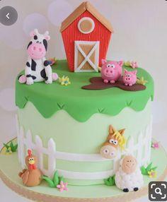 Farm birthday cakes - Little Piggy Modelling Tutorial – Farm birthday cakes Farm Birthday Cakes, Animal Birthday Cakes, Farm Animal Birthday, 2nd Birthday, Animal Cakes For Kids, Farm Animal Cakes, Barnyard Cake, Barn Cake, Cake Tutorial