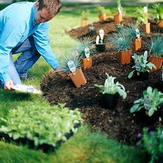 Step 5: Site Your Plants. Though it takes a little extra time, placing all your plants before you put them in the ground can make a world of difference. This allows you to get the spacing just right and make your plants really will look good next to each other.
