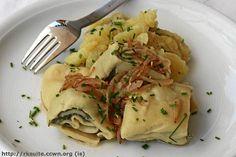 Maultaschen mit schwäbischem Kartoffelsalat http://blog.rezkonv.de/2007/07/01/maultaschen-mit-schwaebischem-kartoffelsalat/
