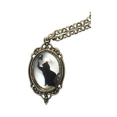 LOVEsick Cat Butterfly Window Necklace | Hot Topic ($6.50) ❤ liked on Polyvore featuring jewelry, necklaces, butterfly pendant necklace, gold tone necklace, clear crystal necklace, cameo jewelry and cameo pendant