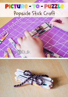 Picture - to - Puzzle Popsicle Stick Craft