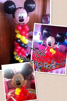 Mickey Mouse balloon towers in different sizes