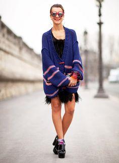 Natalie Joos is cozy/cool in Sonia Rykiel.   - HarpersBAZAAR.com