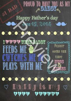 Father's day chalkboard print by SIRIouslyHandmade on Etsy, £3.50