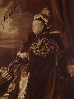 Queen Victoria (1819-1901)    Photograph of Queen Victoria, signed by her on 22 June 1897, on the  occasion of her Diamond Jubilee.