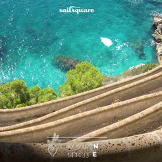 The 'Marina Piccola' in Capri may be reached by boat or walking through this promenade over the sea. #capri www.sailsquare.com