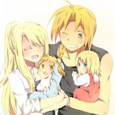 Elric family… Ed and Winry        _Fullmetal Alchemist Brotherhood
