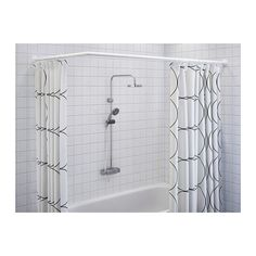 GOMMAREN Universal Shower Curtain Rod