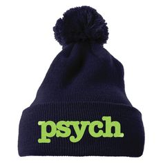 PSYCH Embroidered Knit Pom Cap