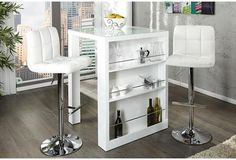 ENZO - breakfast bar white high gloss kitchen bar table by Neofurn