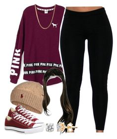 """""""Untitled #1428"""" by lulu-foreva ❤ liked on Polyvore featuring Victoria's Secret, Polo Ralph Lauren and Converse"""