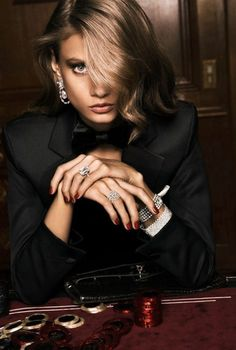 Anna Selezneva - 'Casino' Vogue Paris