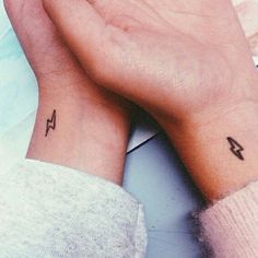 Best friends got these matching Harry Potter inspired wrist tattoos.