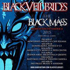 Black Veil Brides  Black Mass Mexico and South America Tour 2015