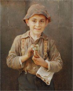 Karl Witkowski (1860-1910) «Newsboy» 1899