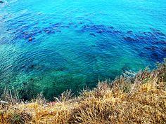 Caribbean like water in Palos Verdes peninsula cove, California