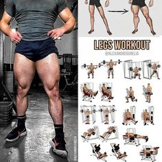Do the exercises for build your legs as shown in the picture for the most effective result!Abs Workout: Build Your With a Five Minute Abs RoutineThe 7 minute core workout! Fitness Workouts, Leg Workouts For Men, Weight Training Workouts, Sport Fitness, Fitness Man, Body Fitness, Physical Fitness, Fitness Goals, Fun Workouts