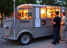 Britan Crêpes. Selling crêpes with Citroen HY food truck.