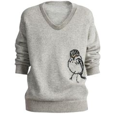 Burberry Bird Detail Cashmere Sweater ($1,295) ❤ liked on Polyvore