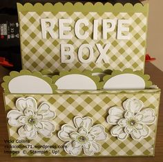 Stampin' Up! Recipe Box Holder
