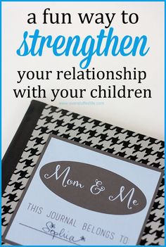Looking for a fun way to provide encouragement to your kids and strengthen your relationship with them? Try a pen-pal journal. (free printable) #overstuffedlife