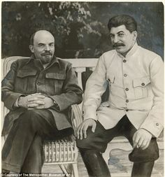 Lenin and Stalin: Unknown Artist, Russian 1949 Gelatin silver print with applied media