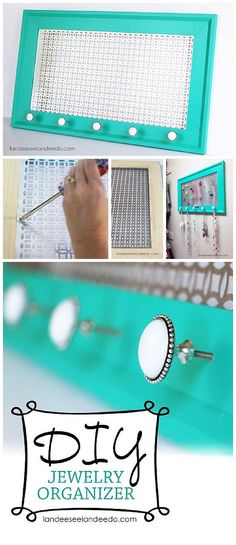 DIY Jewelry Organizer - Step by Step Tutorial to make your own pretty decorative organizer that is as lovely as the jewelry itself!