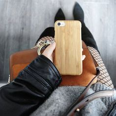 Clipping on your iPhone 7, you can be so stylish when sensing the natural beauty! | Authentic Bamboo Case for iPhone 7 | GMYLE | Photo Credit: mommy_nannan on Instagram